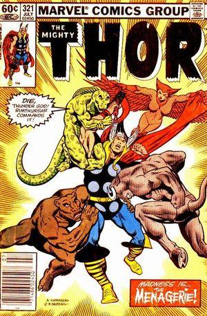 Thor (1966) #321, cover by Alan Kupperberg & Brett Breeding.