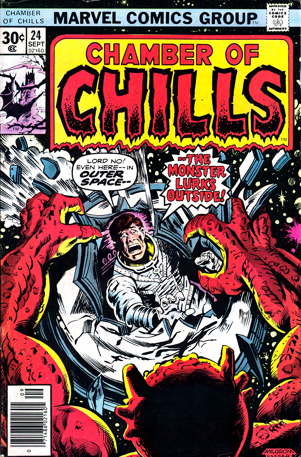 Chamber of Chills (1972) #24, cover penciled by Al Milgrom & inked by Mike Nasser.