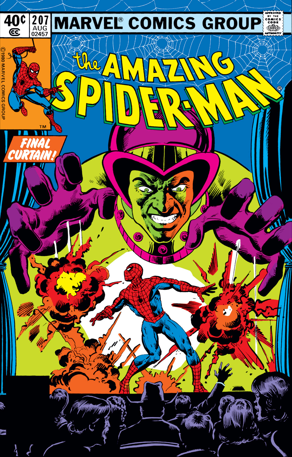 Amazing Spider-Man (1963) #207, cover penciled by Mike Nasser & inked by Al Milgrom.