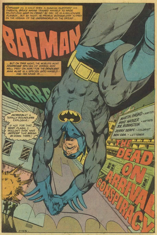 DC Special Series (1977) #1, Batman-Kobra penciled by Mike Nasser & inked by Joe Rubinstein.