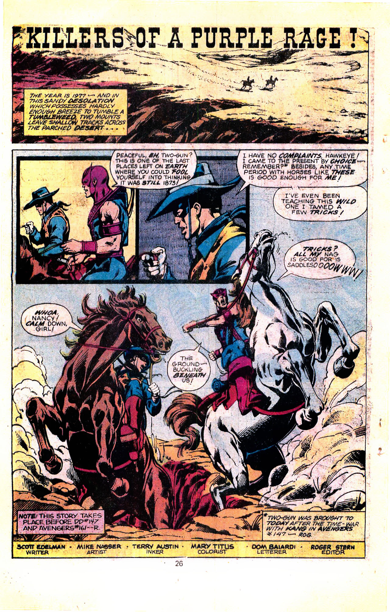 Marvel Tales (1964) #100 pg.26, penciled by Mike Nasser & inked by Terry Austin.
