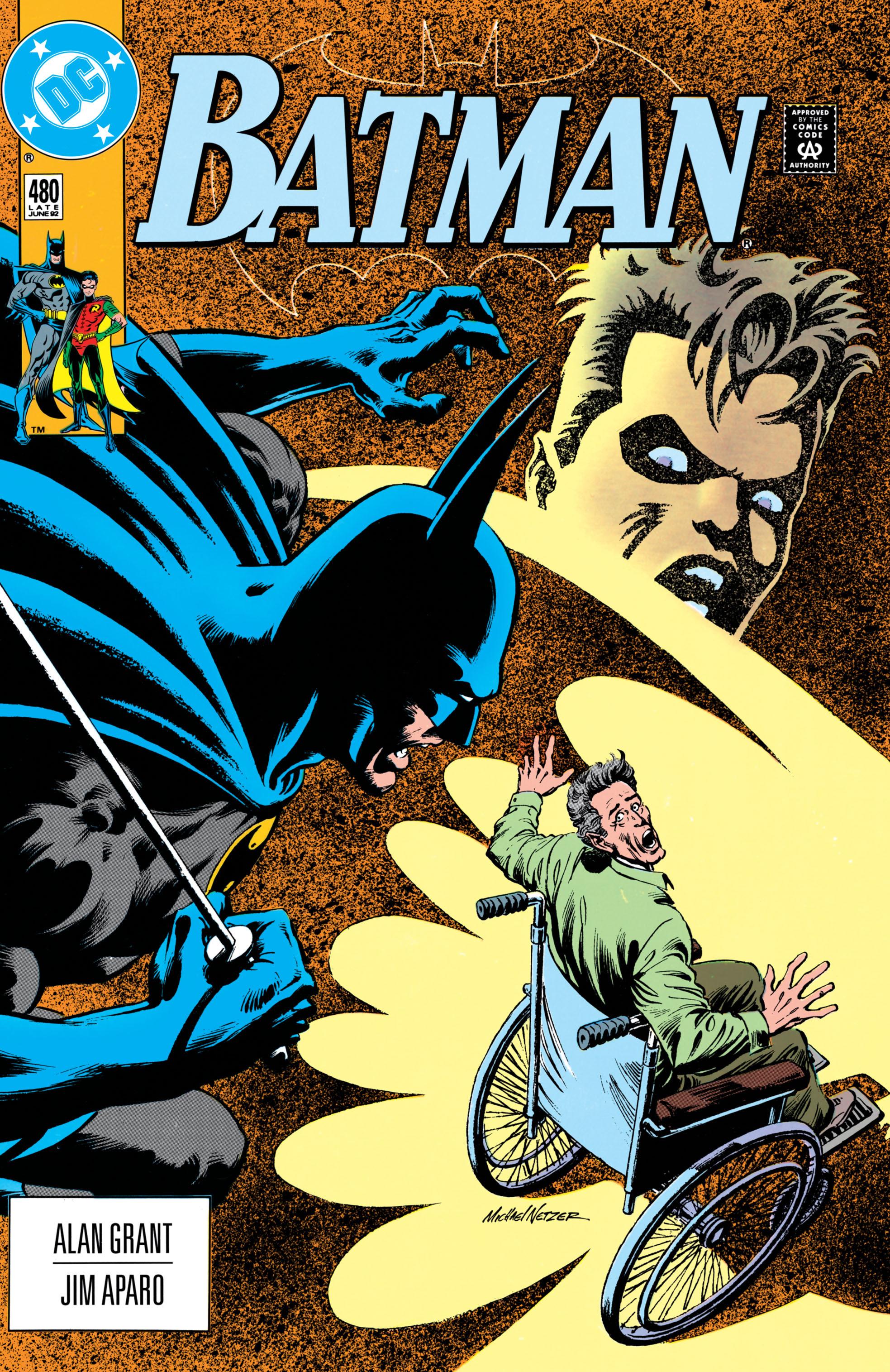 Batman (1940) #480, cover by Mike Netzer.