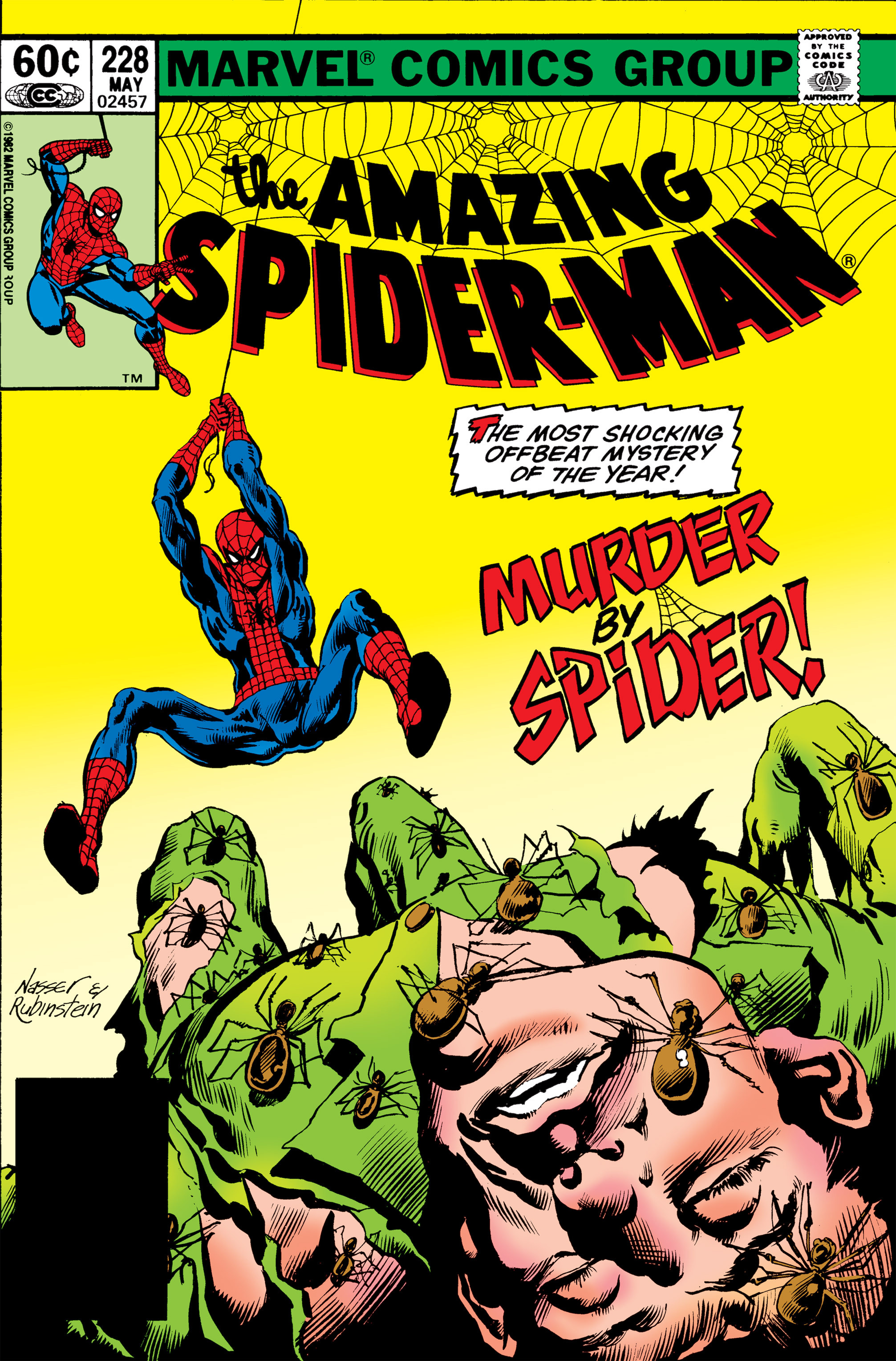Amazing Spider-Man (1963) #228, cover penciled by Mike Nasser & inked by Joe Rubinstein.