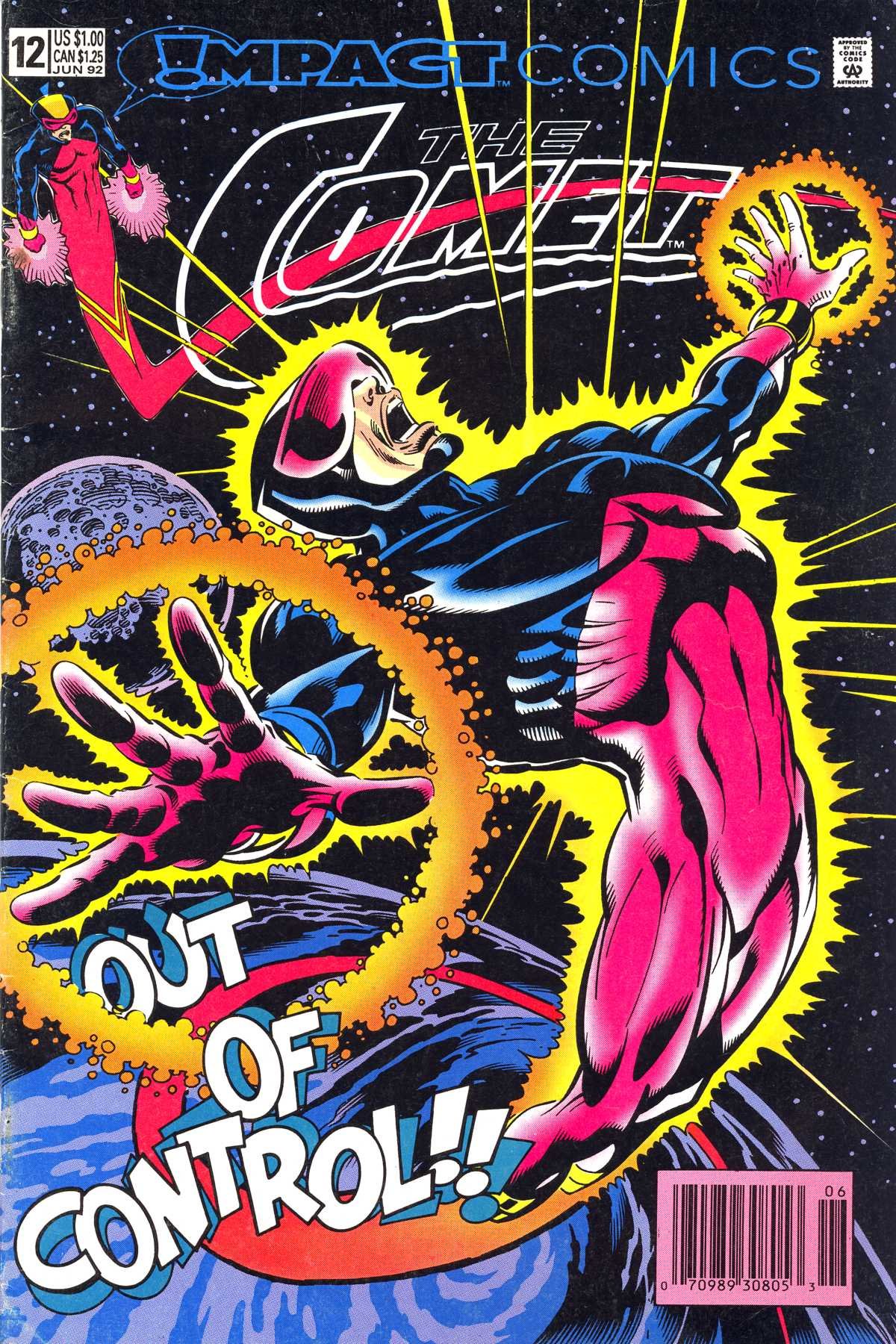 The Comet (1991) #12, cover penciled by Mike Netzer & inked by John Beatty.