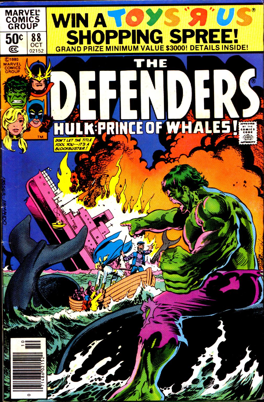 The Defenders (1972) #88, cover penciled by Mike Nasser & inked by Armando Gil.