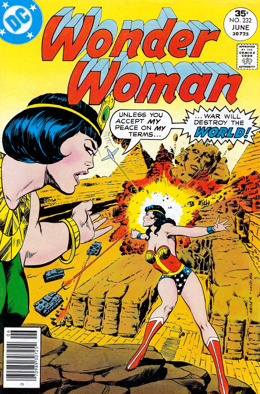 Wonder Woman (1942) #232, cover penciled by Mike Nasser & inked by Vince Colletta.