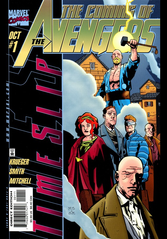 Timeslip: Coming of the Avengers (1998) #1, cover penciled by Matt Smith & inked by Steve Mitchell.