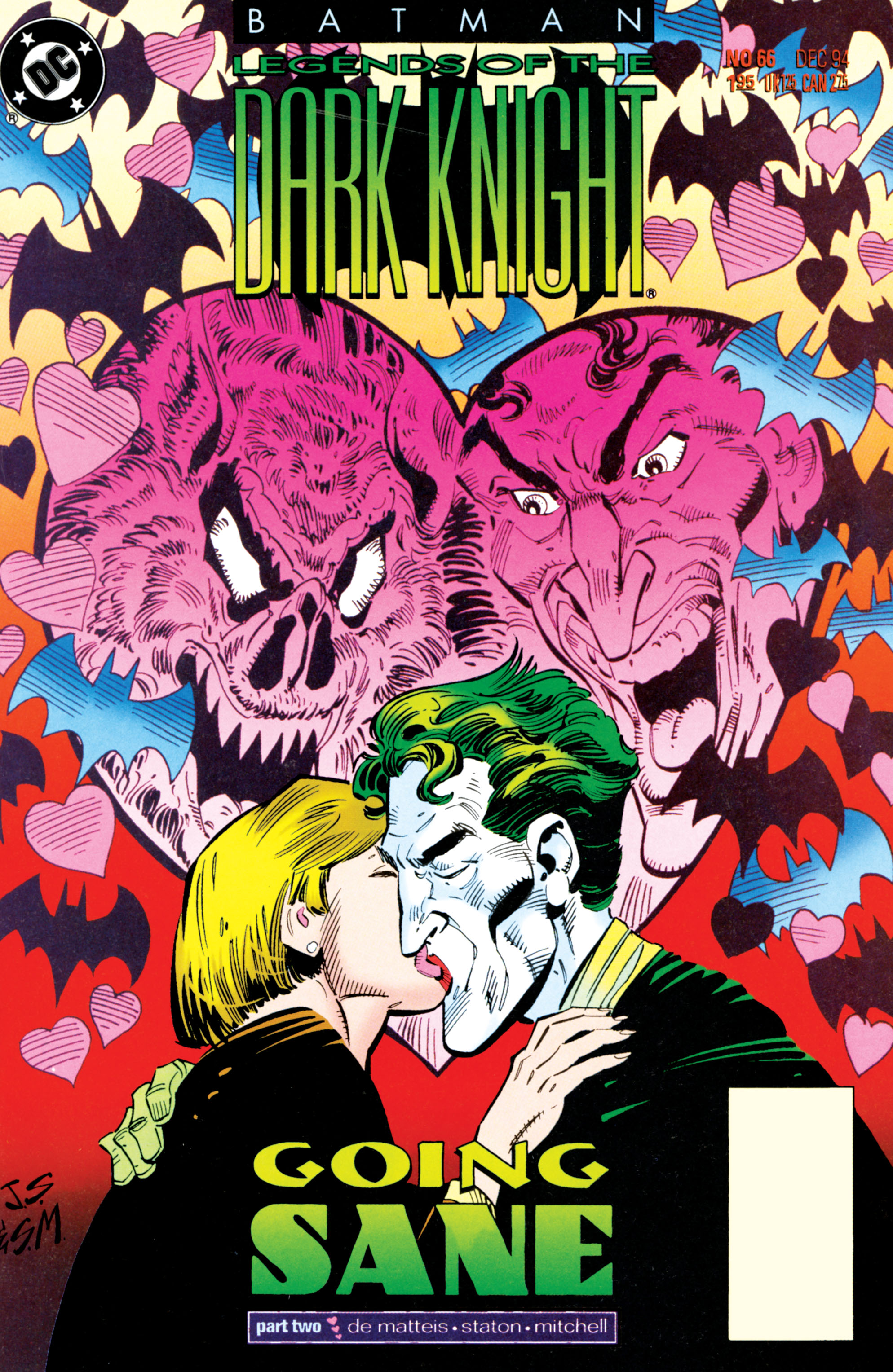 Batman: Legends of the Dark Knight (1989) #66, cover penciled by Joe Staton & inked by Steve Mitchell.