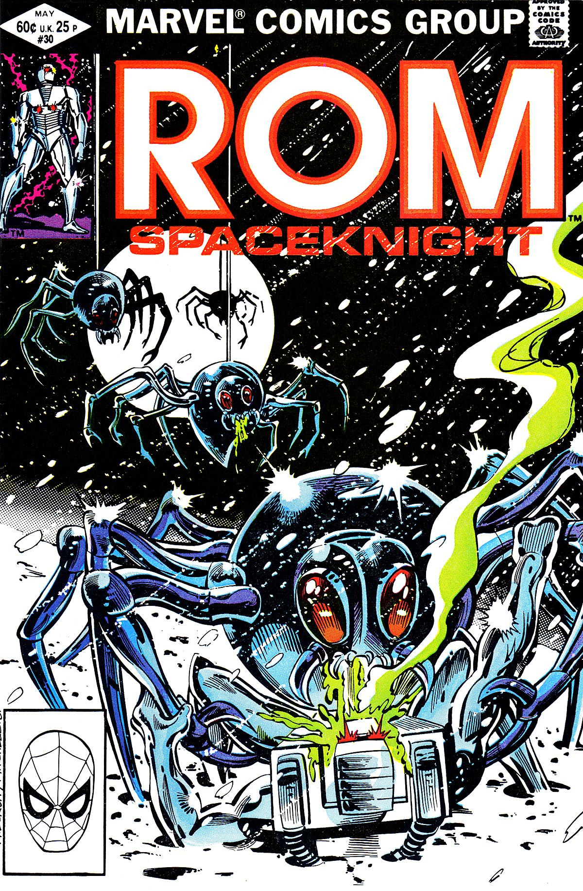 Rom (1979) #30, cover penciled by Al Milgrom & inked by Steve Mitchell.