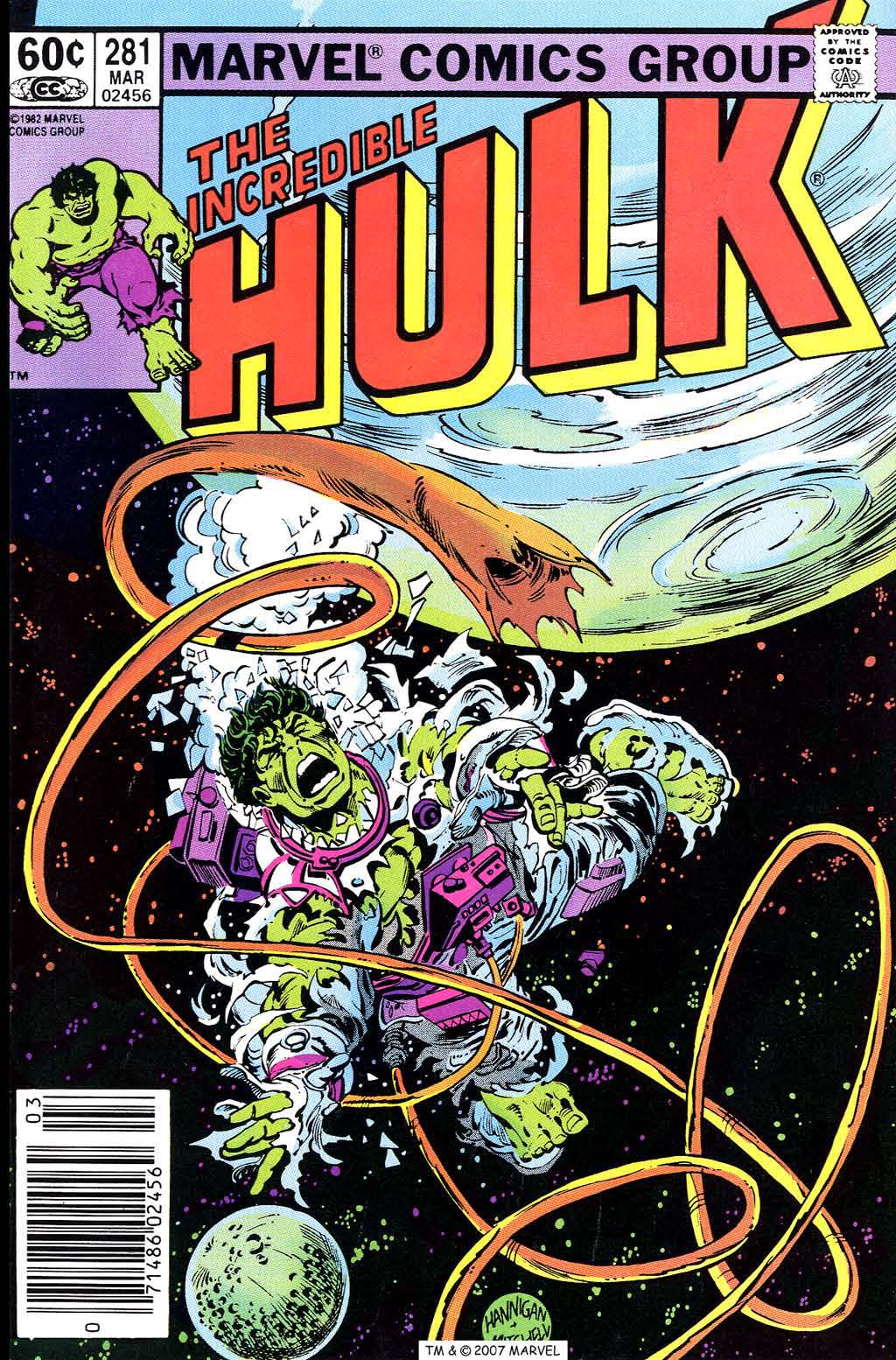Incredible Hulk (1968) #281, cover penciled by Ed Hannigan & inked by Steve Mitchell.