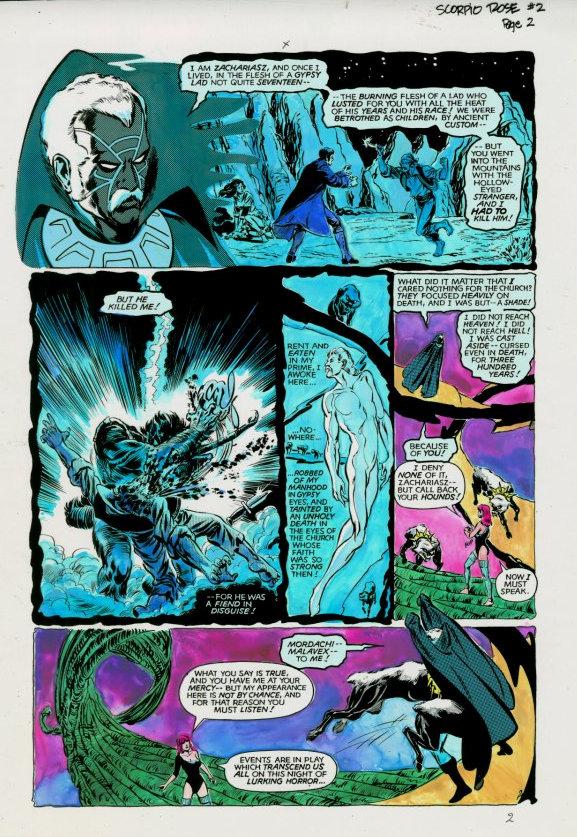 Scorpio Rose (1983) #2 pg.2, colored by Joe D'Esposito.
