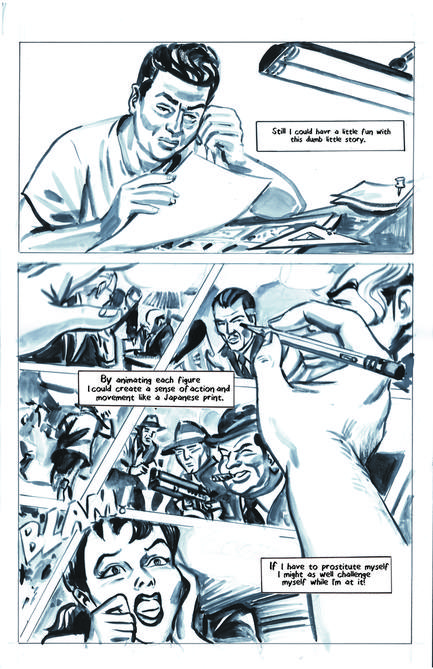 Krigstein: A Graphic Novel  - Sample Page 1, art & story by Joe D'Esposito.