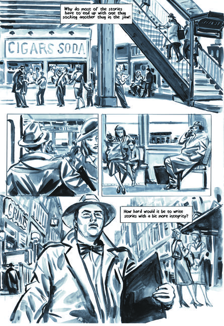Krigstein: A Graphic Novel  - Sample Page 3, art & story by Joe D'Esposito.