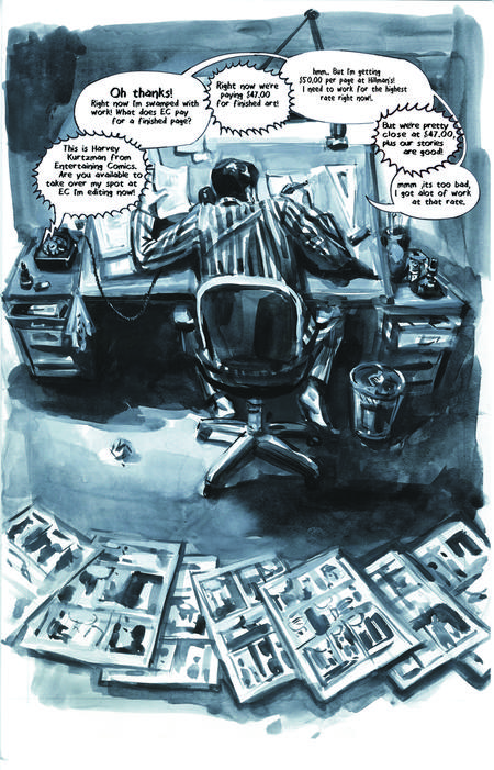 Krigstein: A Graphic Novel  - Sample Page 6, art & story by Joe D'Esposito.