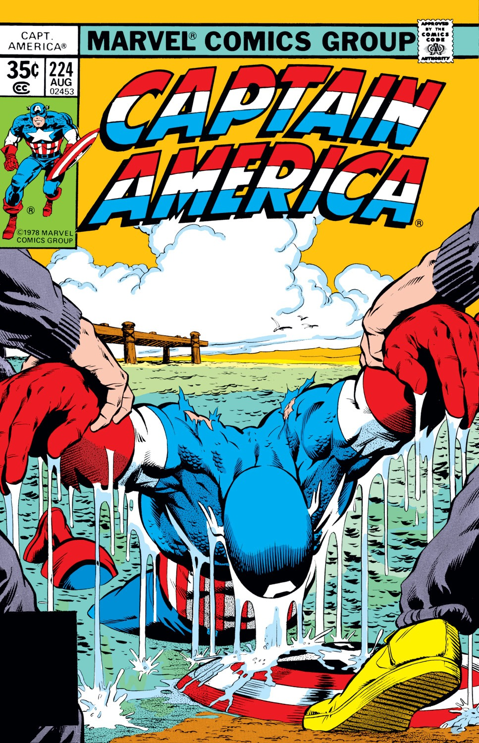 Captain America (1968) #224, cover penciled by Mike Zeck & inked by Bob McLeod.