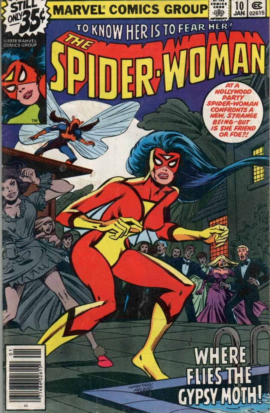 Spider-Woman (1978) #10, cover penciled by Carmine Infantino & inked by Bob McLeod.