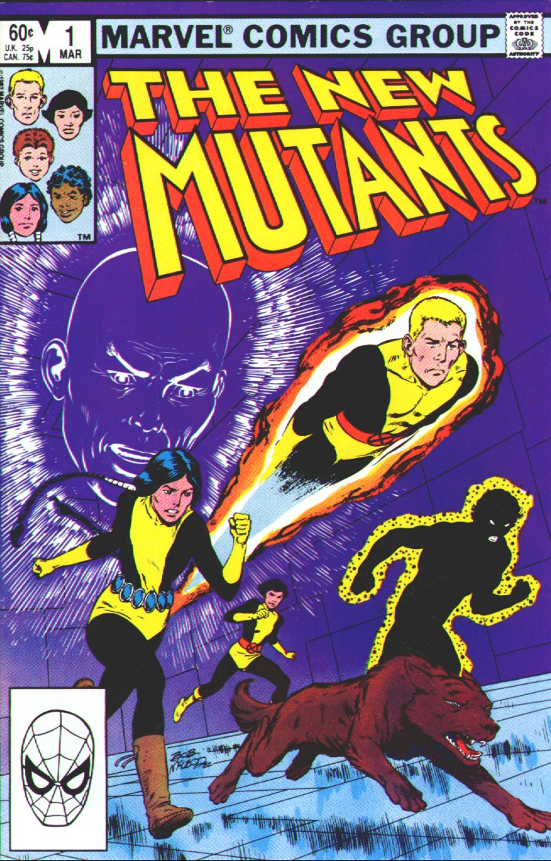 New Mutants (1983) #1, cover by Bob McLeod.
