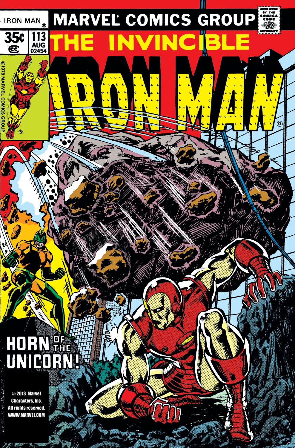 Iron Man (1968) #113, cover penciled by John Romita Jr. & inked by Bob McLeod.
