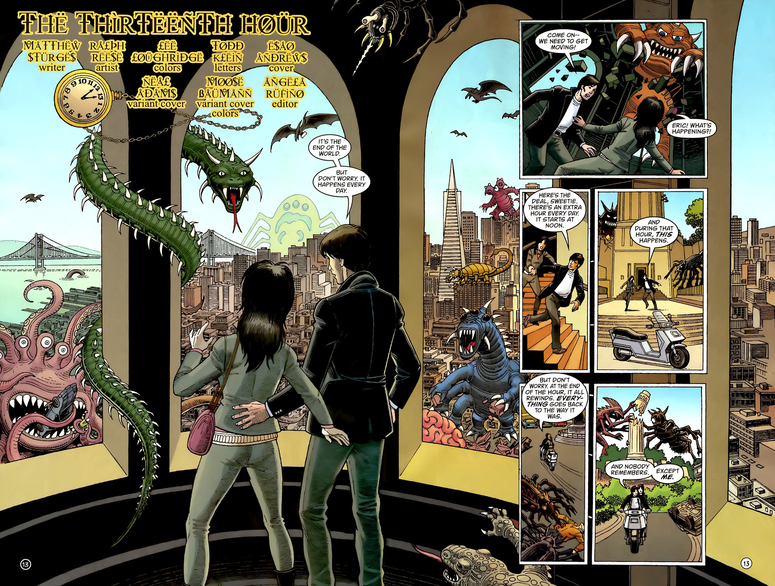 House of Mystery (2008) #13 pg2-3, art by Ralph Reese.