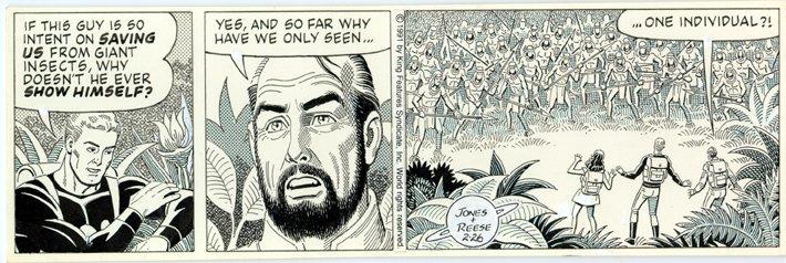 Flash Gordon newspaper strip from 2-26-1991, art by Ralph Reese.