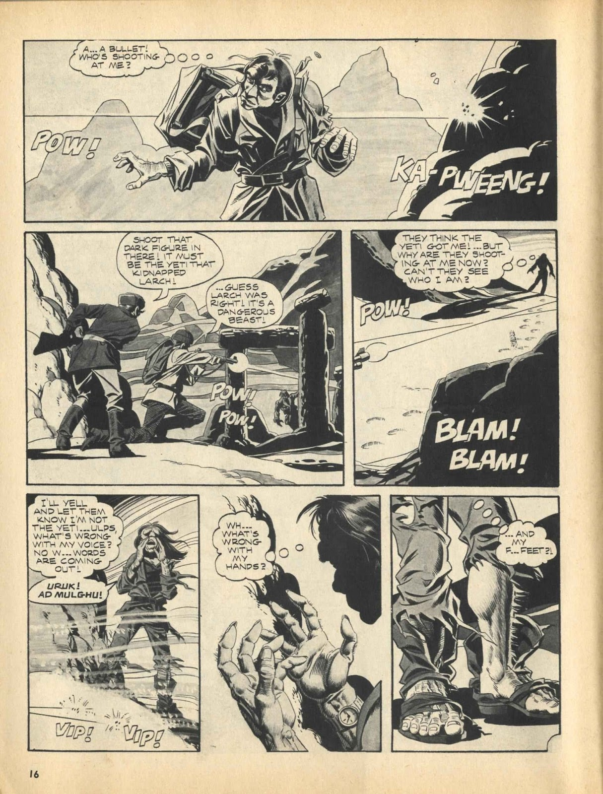 Web of Horror (1969) #3 pg16, written by Otto Binder with art from Ralph Reese.