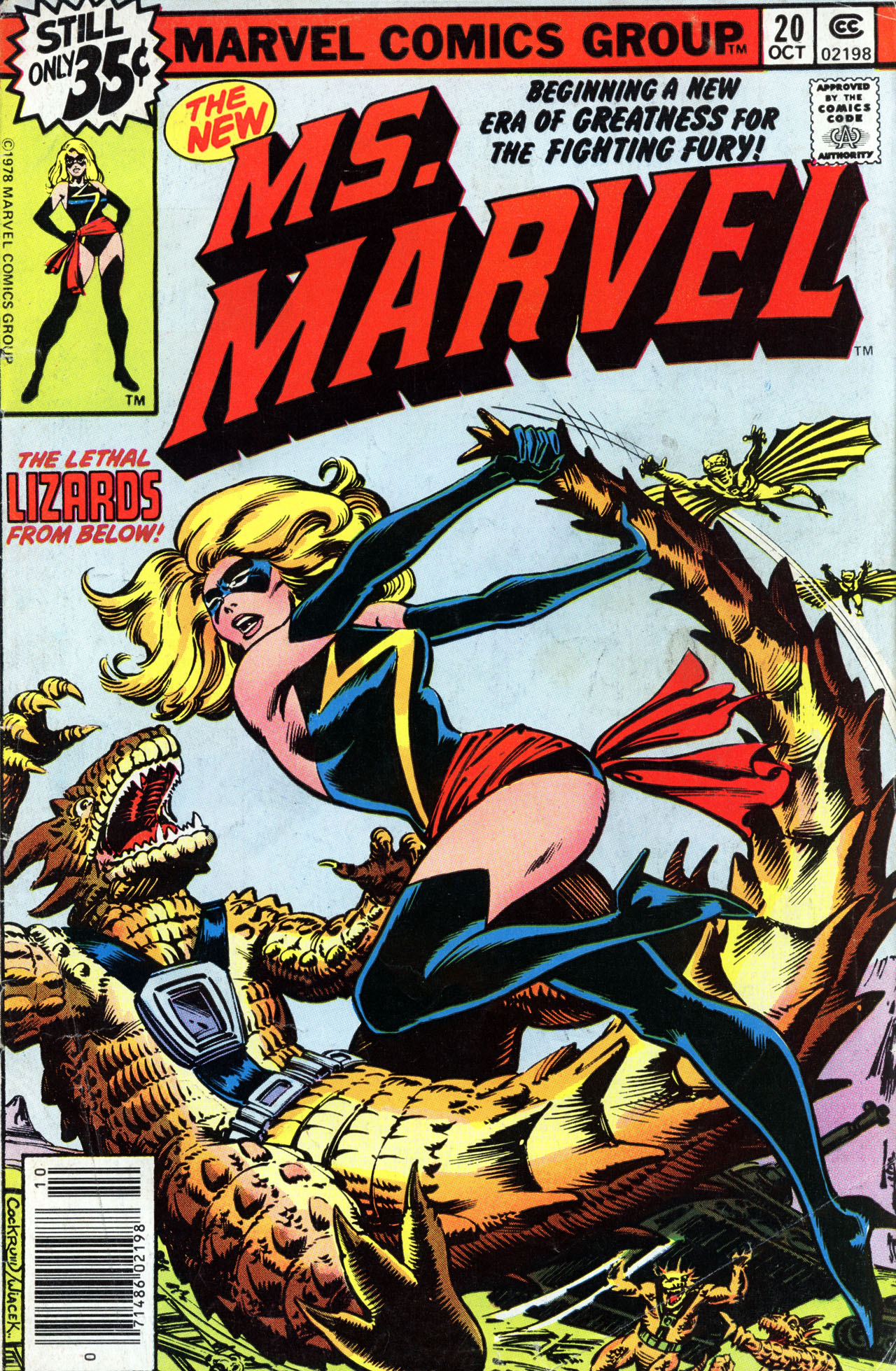 Ms. Marvel (1977) #20, cover penciled by Dave Cockrum & inked by Bob Wiacek.