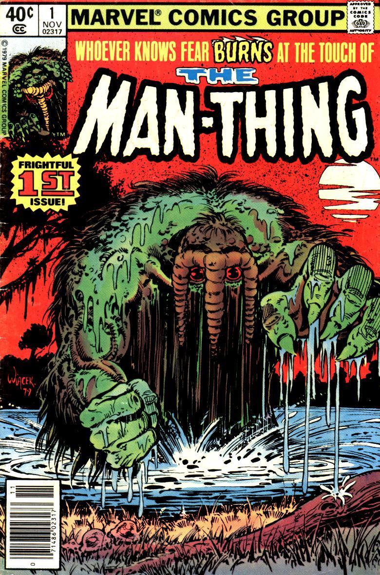 Man-Thing (1979) #1, cover by Bob Wiacek.