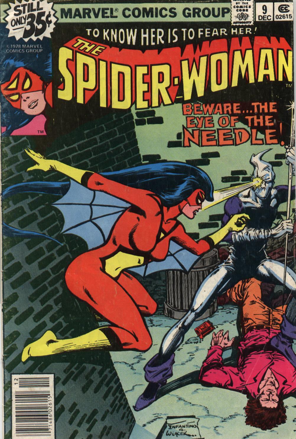 Spider-Woman (1978) #9, cover penciled by Carmine Infantino & inked by Bob Wiacek.