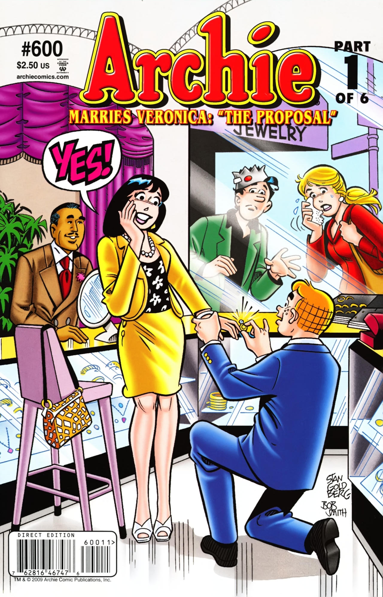 Archie (1960) #600, cover penciled by Stan Goldberg & inked by Bob Smith.