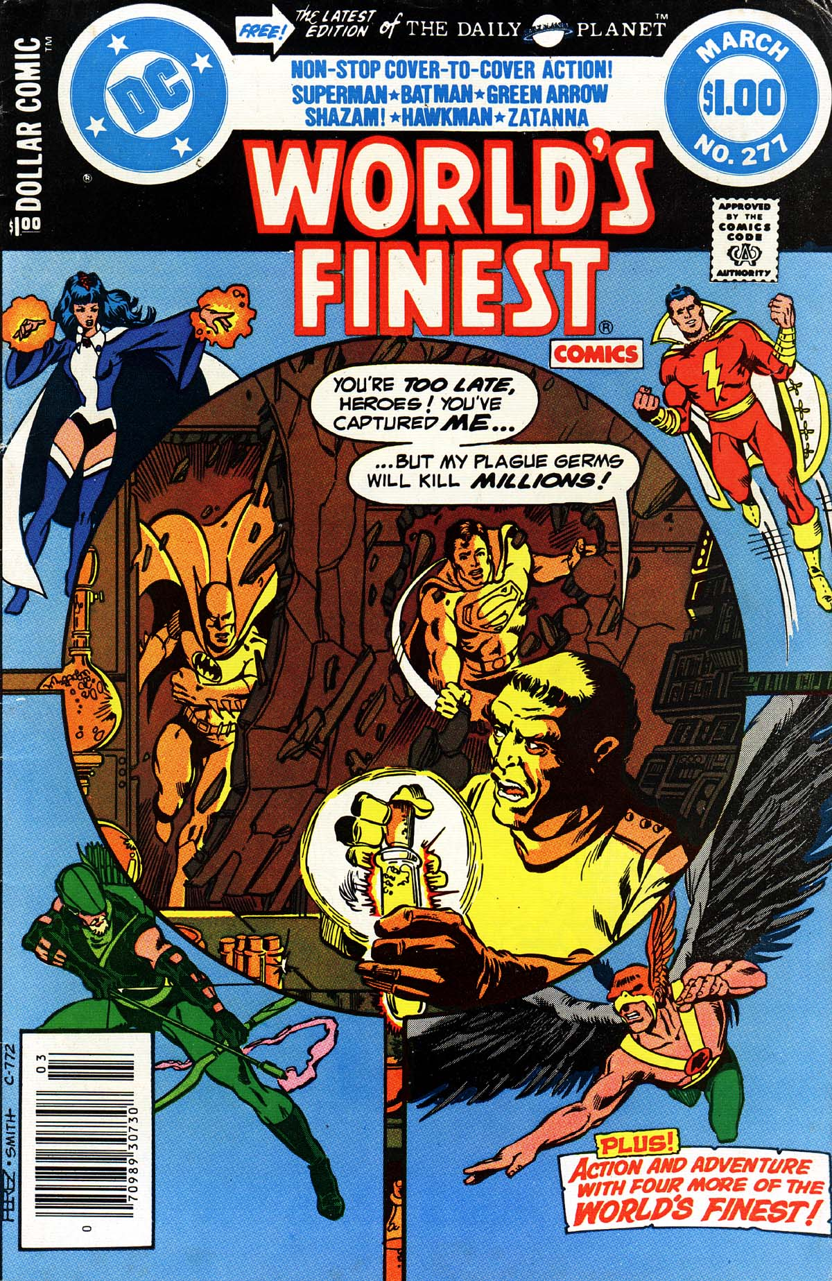 World's Finest Comics (1941) #277, cover penciled by George Perez & inked by Bob Smith.