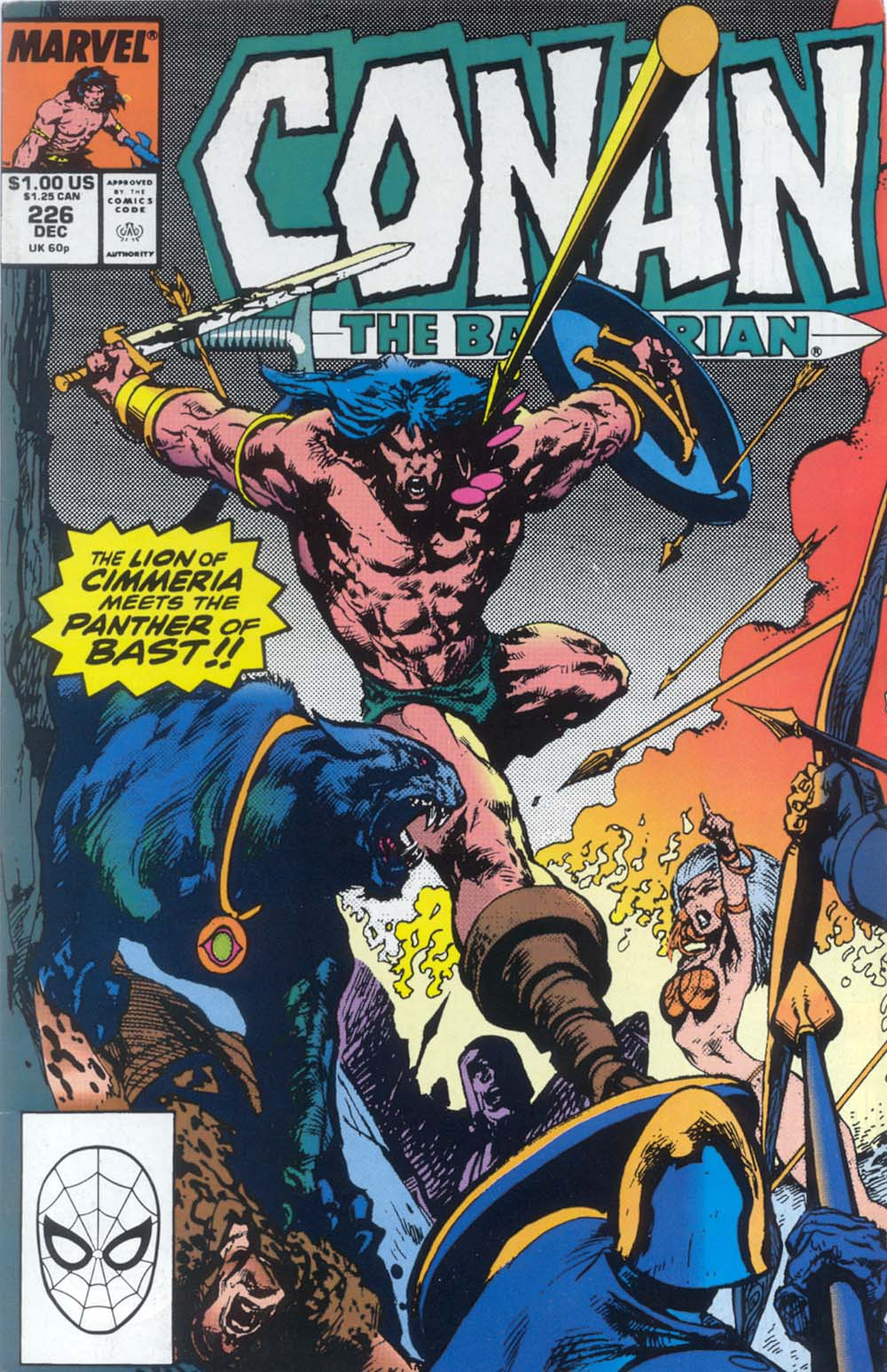 Conan the Barbarian (1970) #226, cover penciled by Jose Delbo & inked by Mark Texeira.