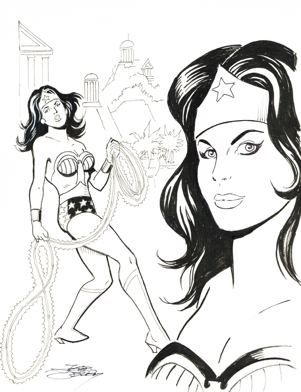 Wonder Woman commission by Jose Delbo.