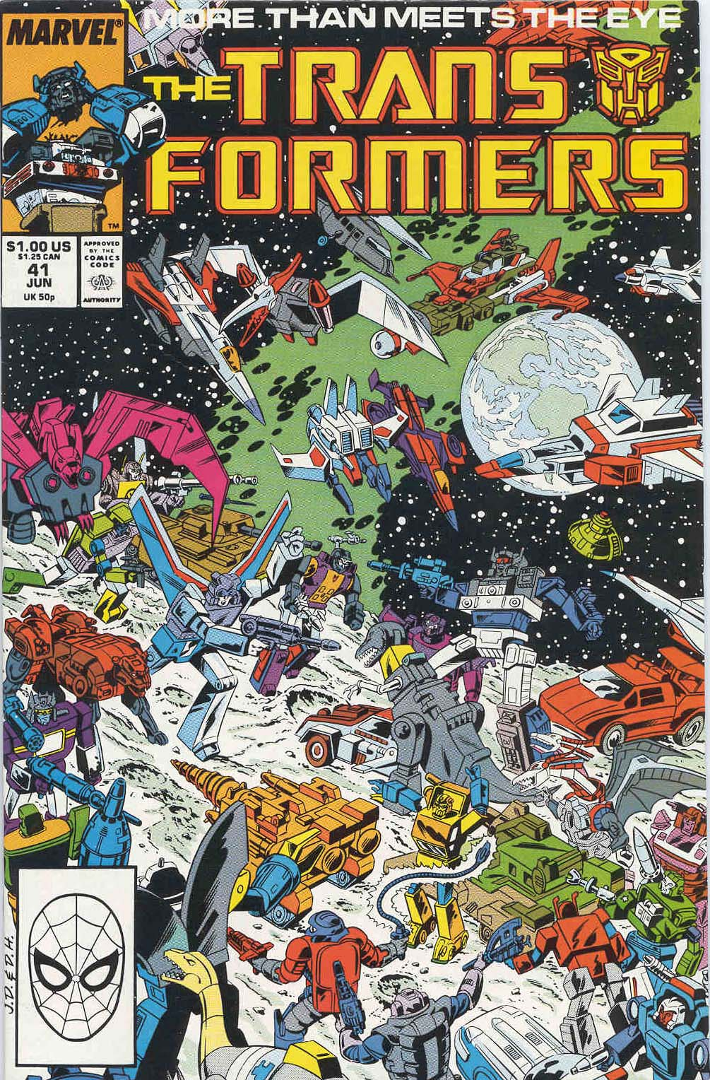The Transformers (1984) #41, cover penciled by Jose Delbo & inked by Dave Hunt.