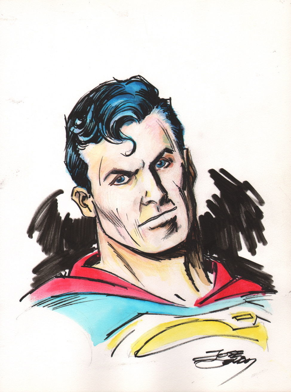 Superman commission by Jose Delbo.