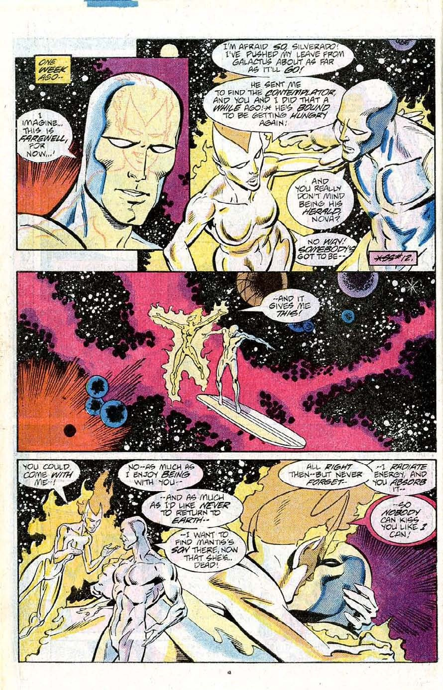 Silver Surfer Annual (1988) #1 pg.4, penciled by Joe Staton & inked by Joe Rubinstein.
