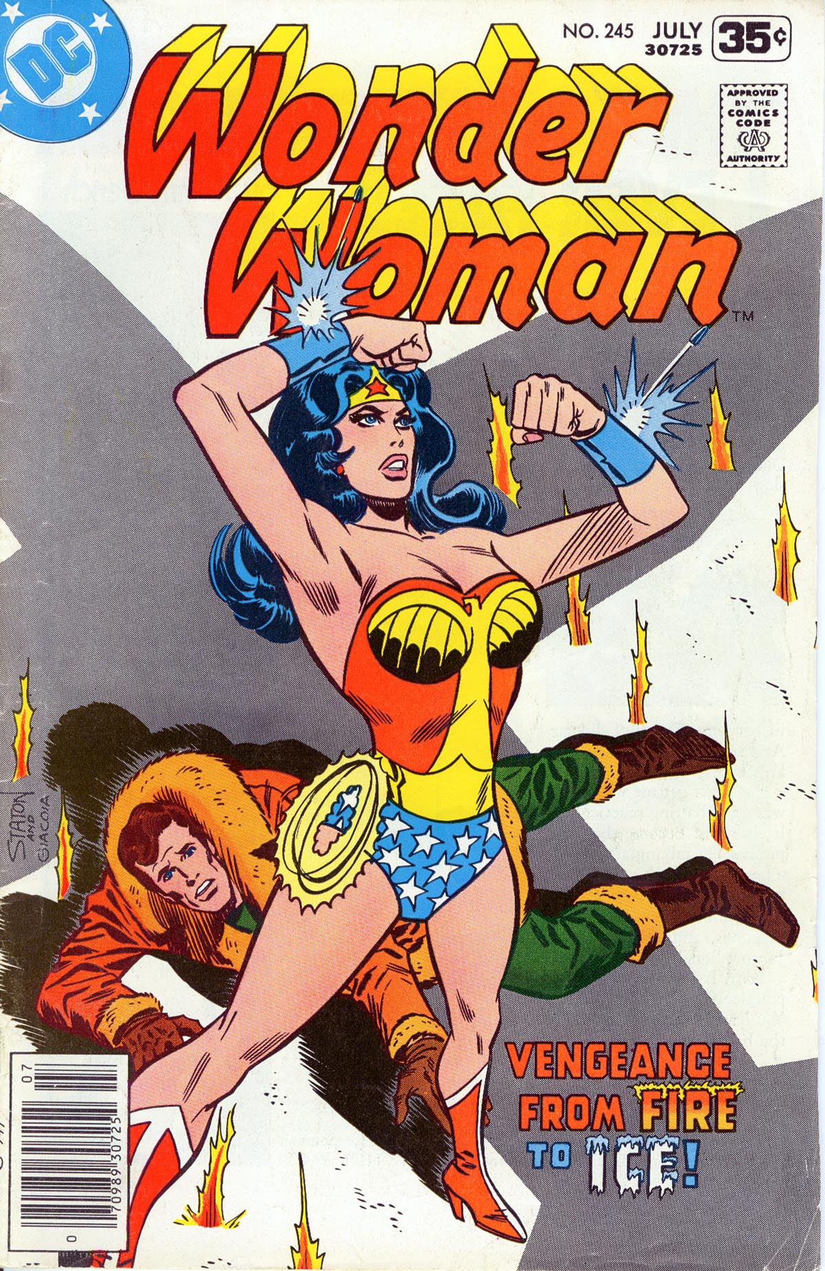 Wonder Woman (1942) #245, cover penciled by Joe Staton & inked by Frank Giacoia.