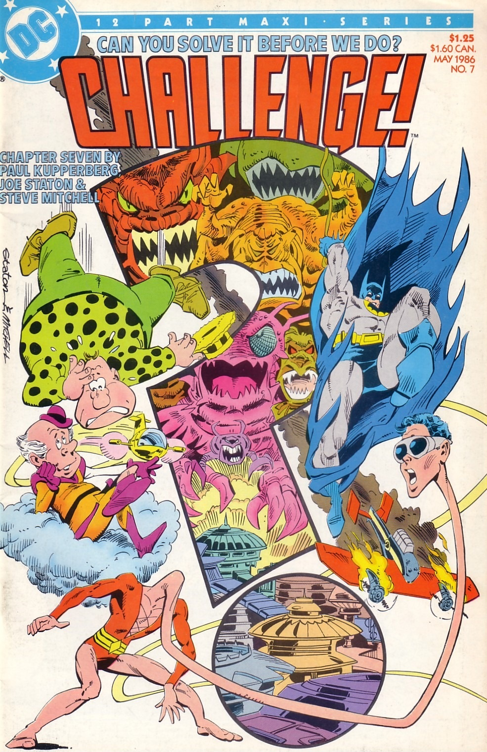 DC Challenge (1985) #7, cover penciled by Joe Staton & inked by Steve Mitchell.