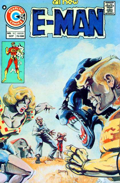 E-Man (1973) #10 cover painted by Joe Staton.