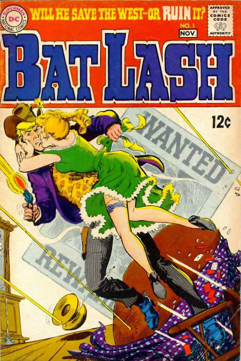 Bat Lash (1968) #1, cover by Nick Cardy.