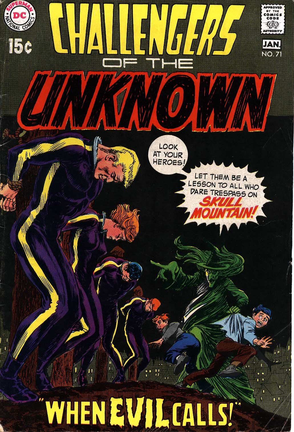 Challengers of the Unknown (1958) #71, cover by Nick Cardy.