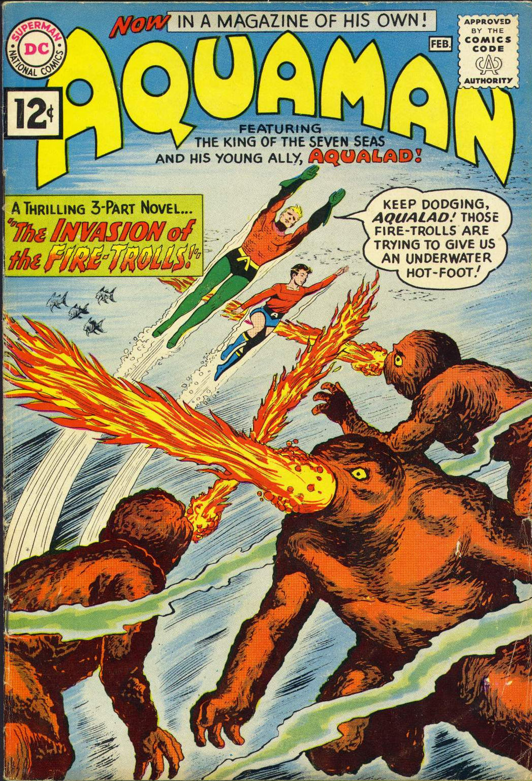 Aquaman (1962) #1, cover by Nick Cardy.