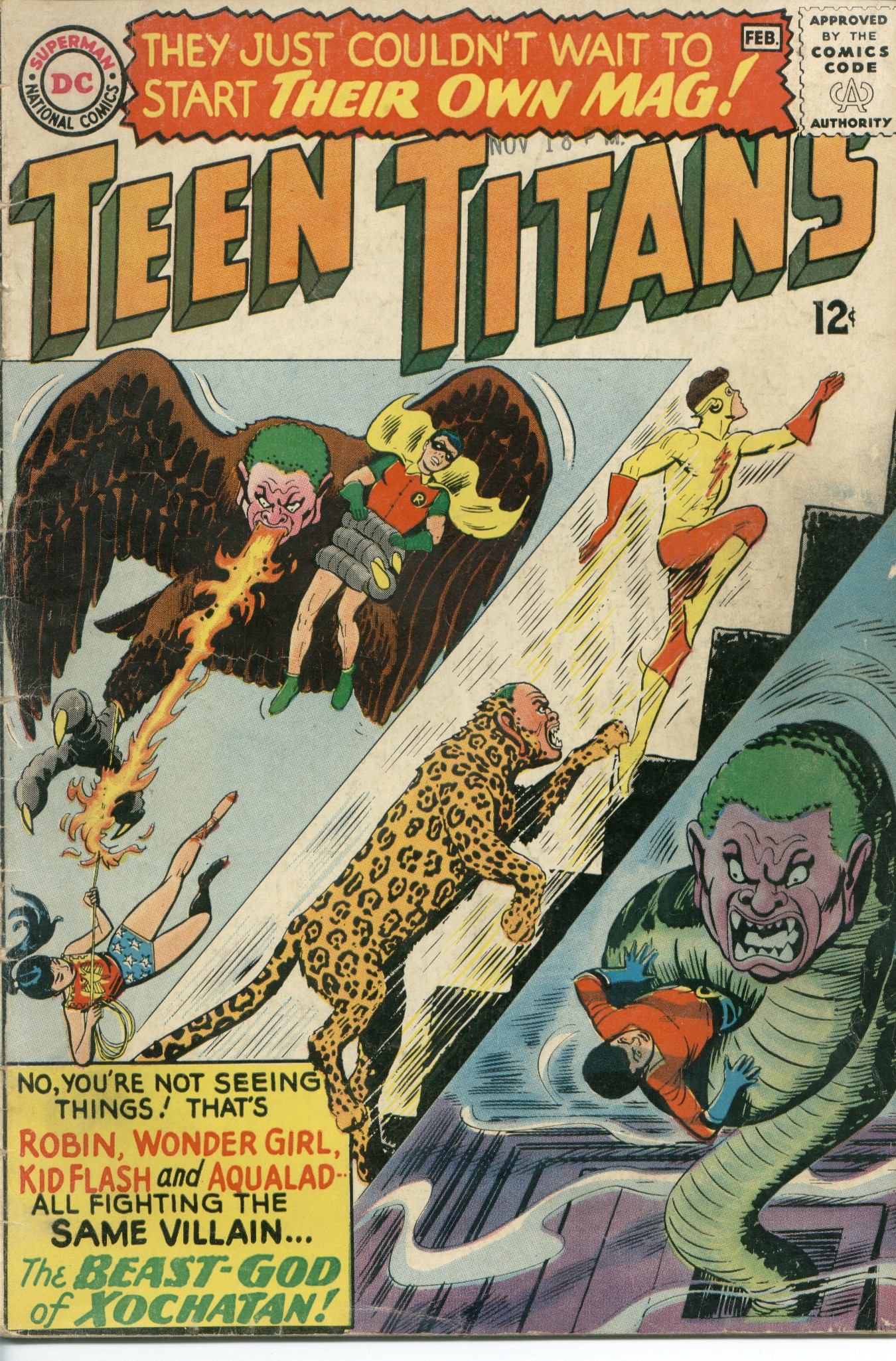 Teen Titans (1966) #1, cover by Nick Cardy.
