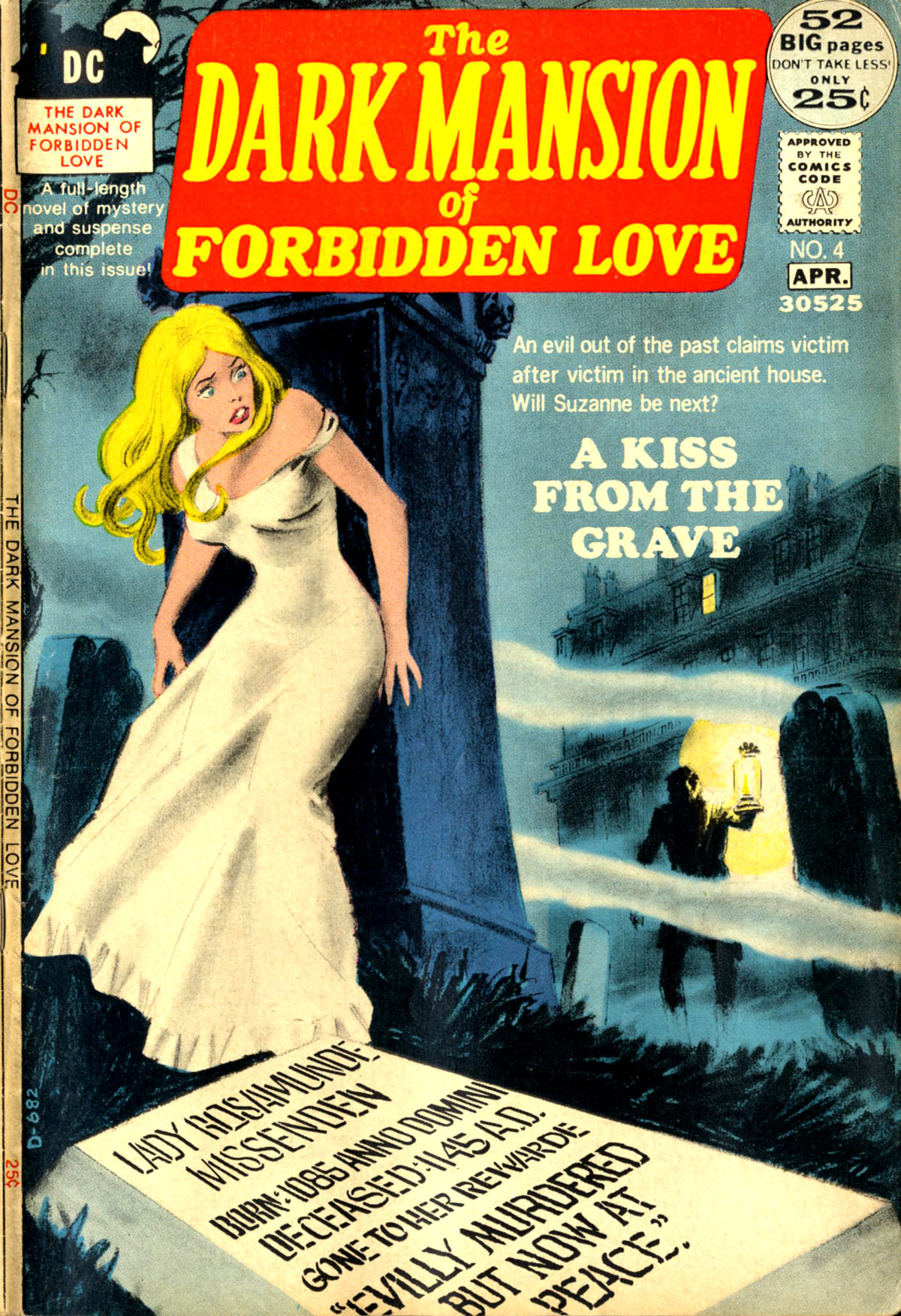 Dark Mansion of Forbidden Love (1971) #4, cover by Nick Cardy.