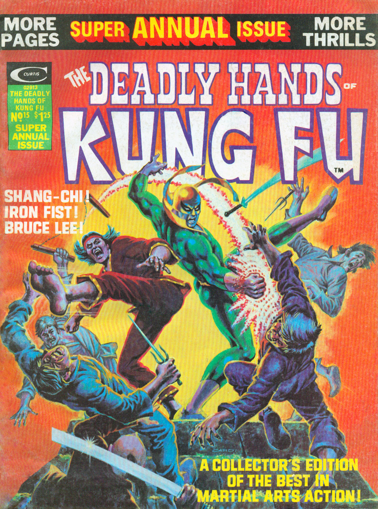 Deadly Hands of Kung-Fu (1974) #15, cover by Nick Cardy.