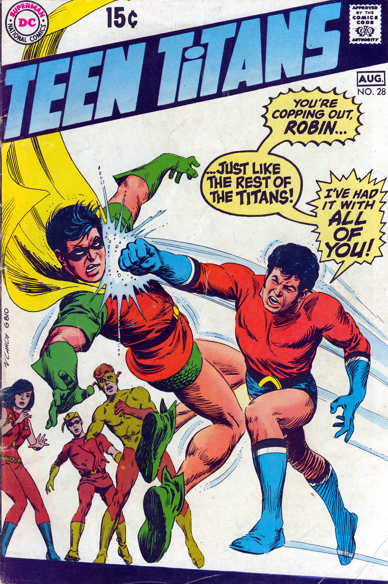 Teen Titans (1966) #28, cover by Nick Cardy.