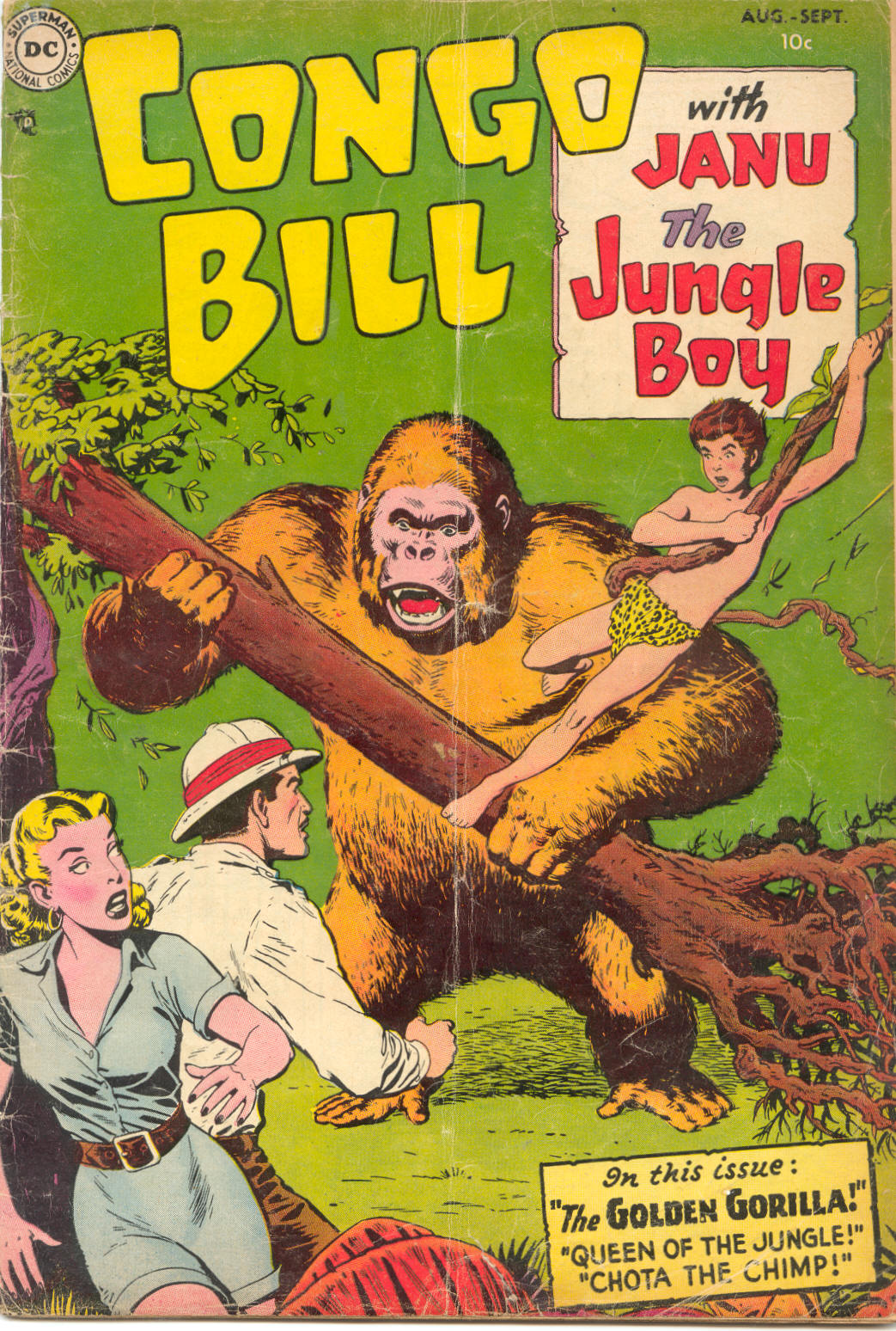 Congo Bill (1954) #1, cover by Nick Cardy.