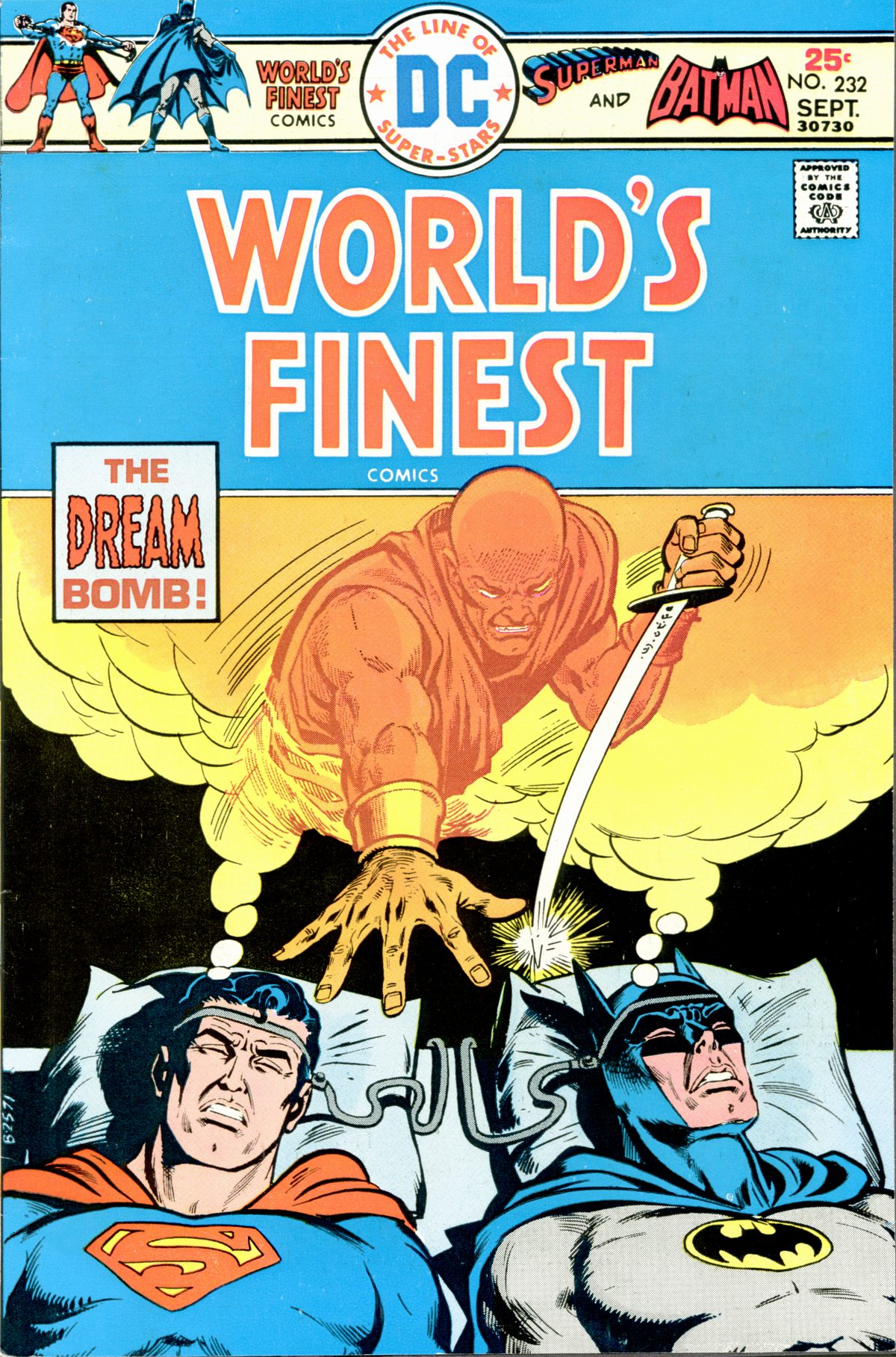 World's Finest Comics (1941) #232, cover penciled by Ernie Chan & inked by John Calnan.
