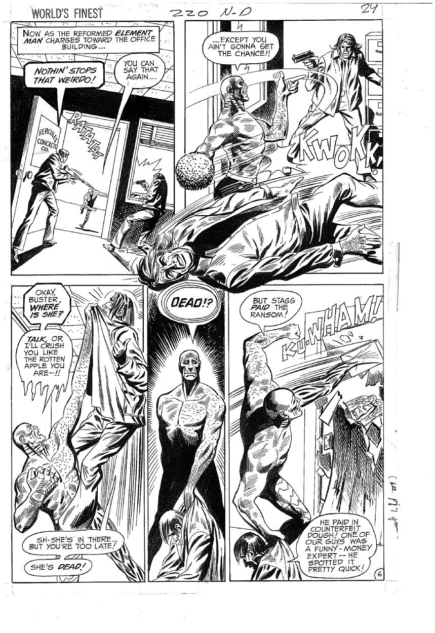 World's Finest Comics (1941) #220 pg6, original art by John Calnan.