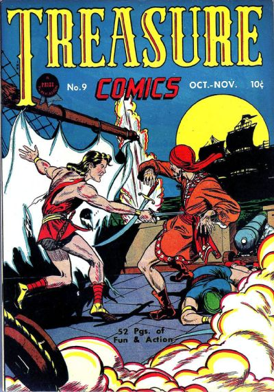 Treasure Comics (1945) #9, cover by Sy Barry.