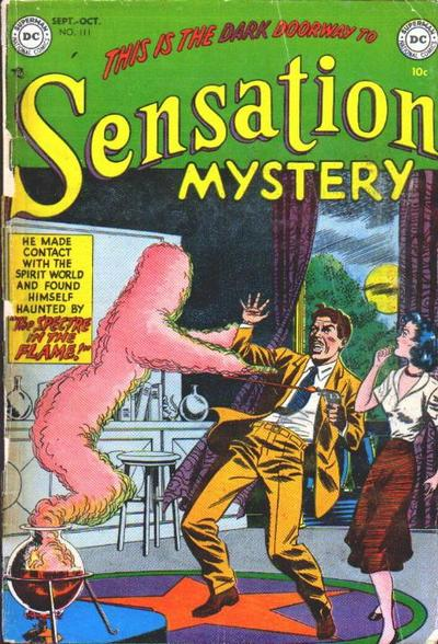Sensation Mystery Comics (1942) #111, cover penciled by Murphy Anderson & inked by Sy Barry.